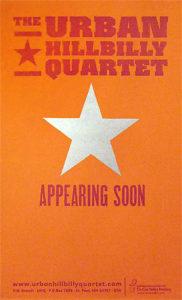Urban Hillbilly Quartet Gig Poster