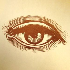 Eyeball Bar Linocut